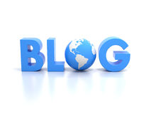 Word blog Stock Photography