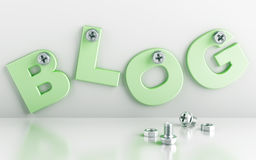 Word blog Royalty Free Stock Photo