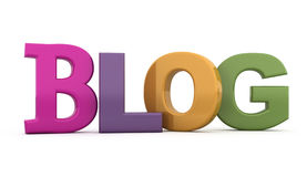 The word blog. 3d illustration Royalty Free Stock Images