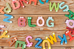 Word BLOG letters Royalty Free Stock Photo