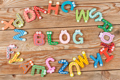 Word BLOG letters stock photos