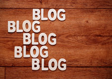 The word blog Stock Image
