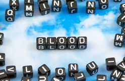 The word Blood stock image