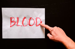 Word Blood Text Royalty Free Stock Image