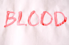 Word Blood Text Stock Image