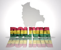 Word Bolivia on a map background Royalty Free Stock Photos
