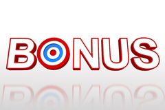 The word bonus with target Royalty Free Stock Photos