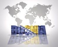 Word  Bosnia Royalty Free Stock Photos