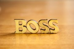 The word `boss` stock photo