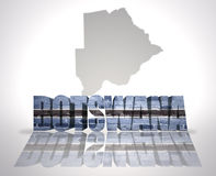 Word Botswana on a map background Stock Photo