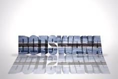 Word Botswana on the white background Stock Images