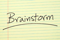 Brainstorm On A Yellow Legal Pad Royalty Free Stock Photo