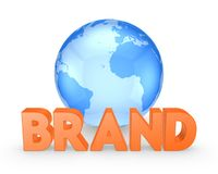 Word BRAND. Royalty Free Stock Images