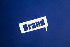 The word Brand in speech bubble Stock Images