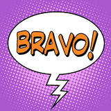 The word Bravo in a comic bubble Royalty Free Stock Image