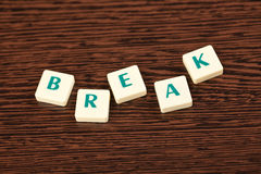 Word break Stock Photos