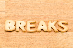 Word break biscuit Royalty Free Stock Photo