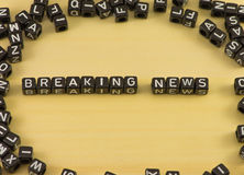 The word Breaking news Stock Photography