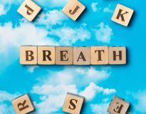 The word Breath royalty free stock photos