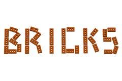 Word bricks Royalty Free Stock Photo