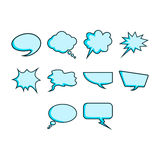 Word bubble icon set Royalty Free Stock Image