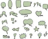 Word bubbles stock illustration