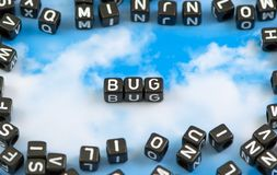 The word bug royalty free stock photography