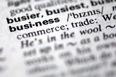 The word business Royalty Free Stock Photos