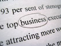 The Word `Business` in Black and White Royalty Free Stock Photo