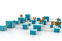 Word business and business connection Stock Images