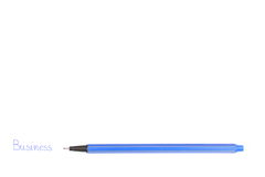 Word business are handwritten with blue pen Royalty Free Stock Photos