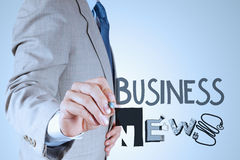 Word BUSINESS NEWS as concept Stock Photography