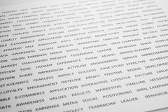 Word of business strategy branding on paper.Marketing success royalty free stock photos