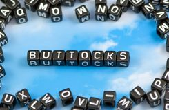 The word Buttocks Royalty Free Stock Image