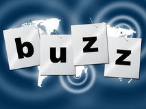 Word Buzz Indicates Public Relations And Publicity Royalty Free Stock Photography