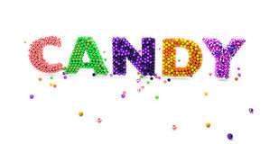 Word candy made of candies Stock Images
