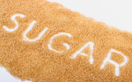 Word of cane brown sugar Stock Image