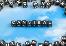 The word Cannibal. On the sky background Royalty Free Stock Photography
