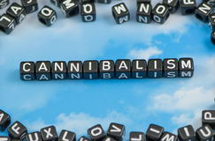 The word Cannibalism Stock Images