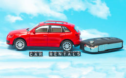 Word car rentals. As a concept and symbol Stock Photo