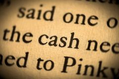 Word cash Royalty Free Stock Images