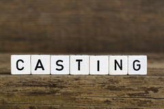 The word casting written in cubes Royalty Free Stock Image