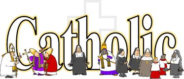 The word Catholic vector illustration
