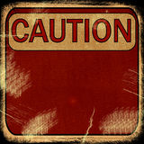 Word  CAUTION Royalty Free Stock Photos