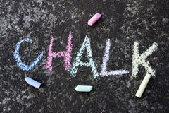 Word chalk Stock Photography