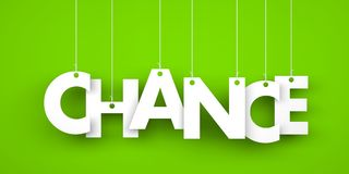 Word CHANCE hanging on the ropes Royalty Free Stock Photos