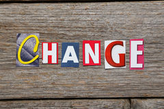 The word change Stock Images