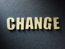The word Change on paper background Royalty Free Stock Photo
