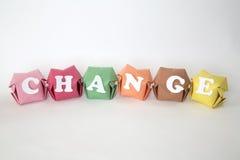 Word change Stock Photos