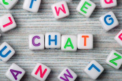 The word chat macro surrounding letters Stock Image
